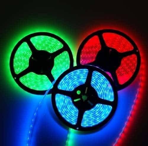 RGB LED STRIP 12V , 150 SMD 5050 LED'S IP67 5m