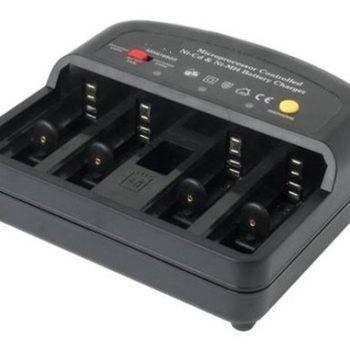 Batterijlader voor AAA, AA, 9V, C en D cellen