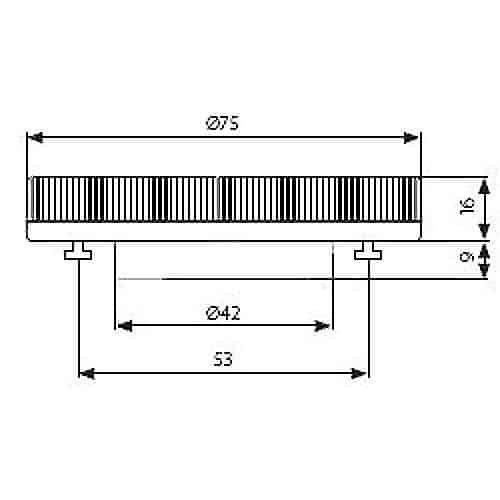 LED GX53 Lamp 230 Volt 3,5 Watt vervangt 9W spaarlamp