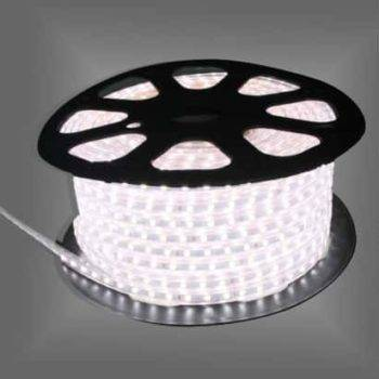 LED strip 230V 50m koud-wit IP68