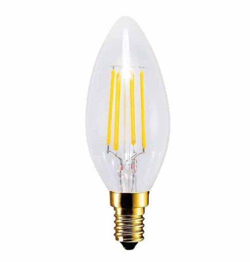 E14 LED kaars EDISON 4W - 30W