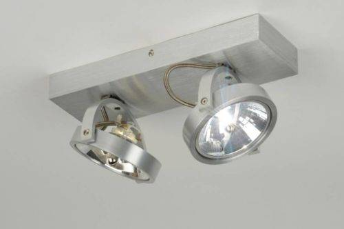 Plafond lamp 2x ar111 vol aluminium