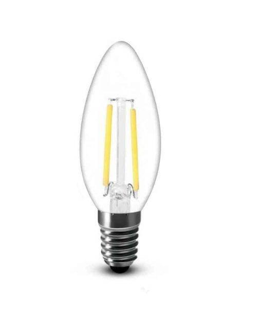 E14 LED kaars 2W-25W 2700k warm-wit