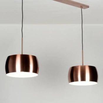 Trendy roodkoper LED hanglamp