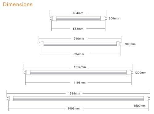 150cm LED TL 27W Warm-wit