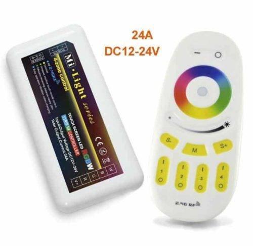 RGB Touch RF 4-zone controller + afstandsbediening