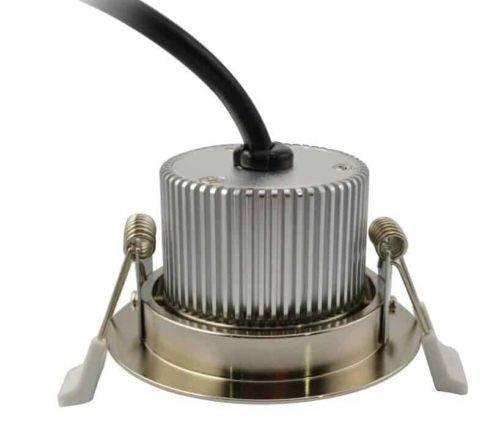 LED inbouwspot 7W dimbaar Warm-wit RVS