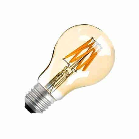 E27 filament LED lamp 8W dimbaar GOLDEN