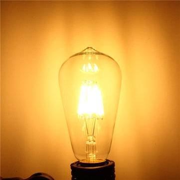 E27 LED lamp 8W-60W 2700k dimbaar ST64