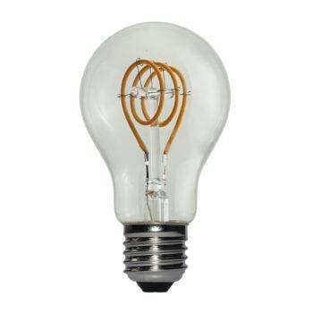 E27 3W LED filament curved dimbaar